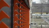 Budapest, Corvin u. Casino,  lamella tartó sínek